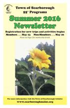 Cover of the organization's Summer 2016 newsletter