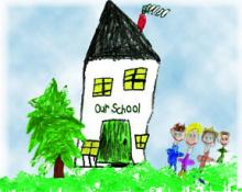 Drawing of school from Organization's web site
