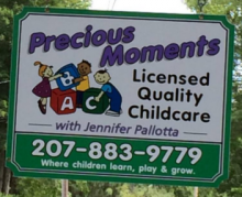 Photo of Precious Moments sign