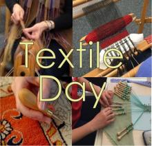 textile day 2019, fiber artists, spinning, carding, weaving, rug hooking, embroidery, bobbin lace