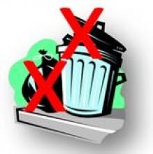 Trash graphic from organization's website