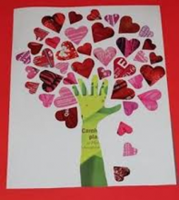 image of children's craft project of a tree